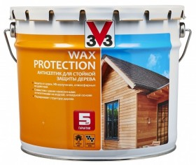 Антисептик для дерева с добавлением воска V33 Wax Protection (Бесцветный)