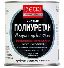 Полуглянцевый лак Petri Semi Gloss Polyurethane Finish