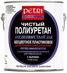 Полуматовый лак Petri Satin Polyurethane Finish